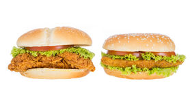 Big hamburger Stock Image