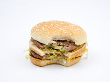 Big hamburger on white background Stock Image