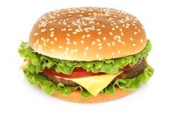 Big hamburger on white background Stock Images