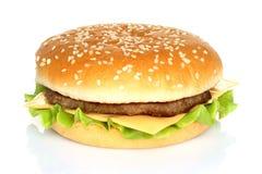 Big hamburger on white background Royalty Free Stock Photos