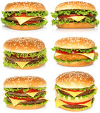 Big hamburgers Stock Photos
