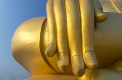 The Big Hand Buddha at Wat Muang Temple Royalty Free Stock Photos