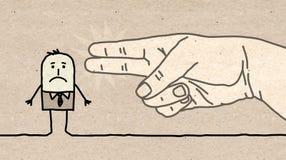Big hand - gun sign. Cartoon Big hand - gun sign Royalty Free Stock Image
