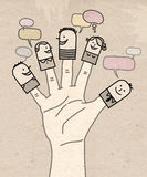 Big hand - social network Stock Images