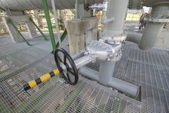 Big handle valve Stock Image