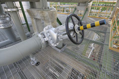 Big handle valve Stock Photography