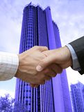 Big handshake in the city Royalty Free Stock Images