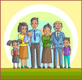 Big Happy Asian Family. Parents with Children. Stock Photography