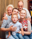 Big happy famile at home Royalty Free Stock Photo