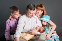 Big happy family Stock Photos