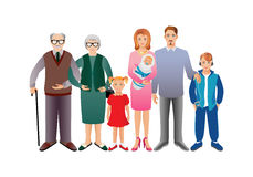 Big happy family Royalty Free Stock Images