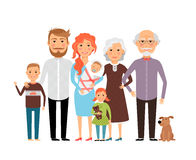 Big happy family Royalty Free Stock Photo