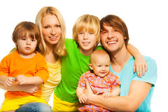Big and happy family Stock Image