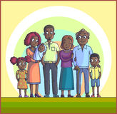 Big Happy Family. Parents with Children. Royalty Free Stock Images