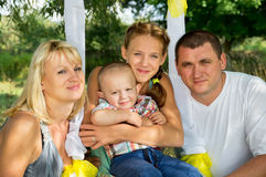 Big happy family rest Royalty Free Stock Photo