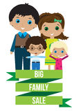 Big happy family sale Stock Images