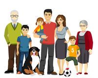 Big and Happy Family vector illustration Stock Photos