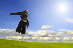 Big happy jump royalty free stock image