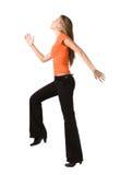 big happy making step woman στοκ εικόνες με δικαίωμα ελεύθερης χρήσης