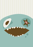 Big Happy Monster Illustration Royalty Free Stock Images