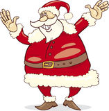Big happy santa claus. With hands up Stock Images