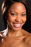 Big Happy Smile On Beautiful Black Woman Stock Images