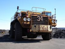 Big Haul Truck. In mine front on Royalty Free Stock Image