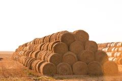 Big haystack at field Royalty Free Stock Images