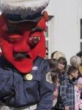 Big head costume police stock image
