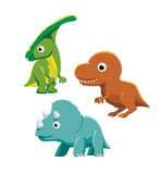 Big Head Dinosaur Cartoon Vector Illustration Stock Photography
