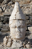 Big stone head. Big head on the Nemrud Dagi in Turkey Stock Images