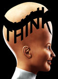 Big Head Thinking 8 Stock Photography