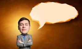 He is big head Stock Image