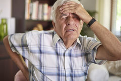 Big headache and spine pain Royalty Free Stock Images