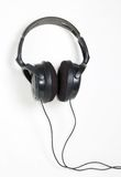 Big headphones. Black and brown Stock Photography