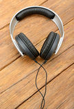 Big headphones on table Stock Image