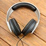 Big headphones on table Royalty Free Stock Photos