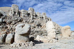 Heads and throne. Big heads and stone throne on the mount Nemrud in Turkey Stock Photos