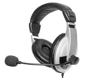 Big headset with a microphone. Isolated Stock Photography