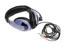 Big headset with a microphone. Isolated Stock Images