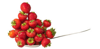 Big and healthy portion of strawberry fruits Stock Photography