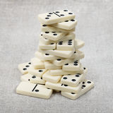 Big heap of ancient counters of dominoes Stock Images