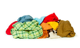 Big heap of colorful clothes Royalty Free Stock Images