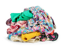 Big heap of colorful clothes, Royalty Free Stock Images