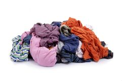 Big heap of colorful clothesund Stock Images
