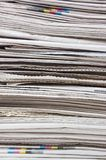 Big heap of fresh newspapers close up Royalty Free Stock Photo