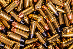 Big heap of pistol rounds Royalty Free Stock Photography