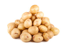 Big heap of uncooked ripe potato Stock Photo