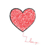 Big heart Royalty Free Stock Images