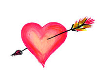 Big heart with arrow Royalty Free Stock Images